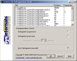 PageDefrag screen 1
