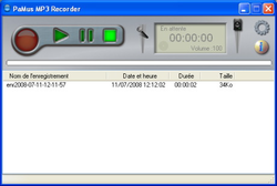 PaMus MP3 Recorder screen&
