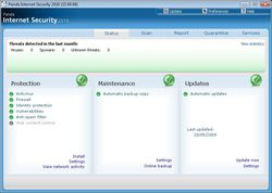 Panda Internet Security 2011 screen 1