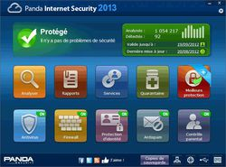 Panda Internet Security 2013 screen1