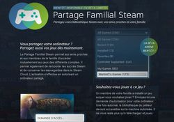 partage familial Steam