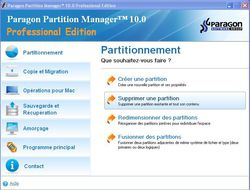 Partition Manager 10 Professionnel screen 1