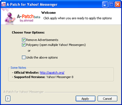A-Patch for Yahoo Messenger screen1