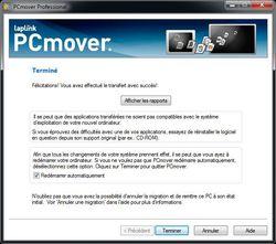 PC Transfert assistant de mise à jour screen 2