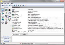 PC Wizard 2012 screen 1