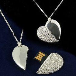Pendentif coeur USB
