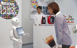 Pepper Nestlé robot vendeur japon