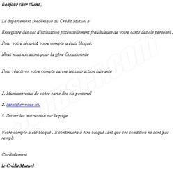 Phishing Crédit Mutuel mai 2009