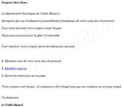Phishing Crédit Mutuel
