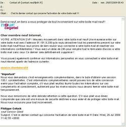 Phishing Neuf-SFR juillet Phishing Neuf SFR juillet 1