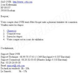 Phishing OVH octobre 2009