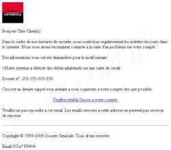 Phishing Société Général avril 2009 Phishing Société Général avril 2009 1