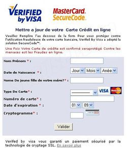 Phishing Visa septembre 2009 2