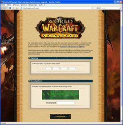 Phishing WoW septembre 2009 2