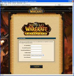 Phishing WoW septembre 2009 3