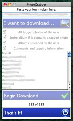 Photograbber screen 1