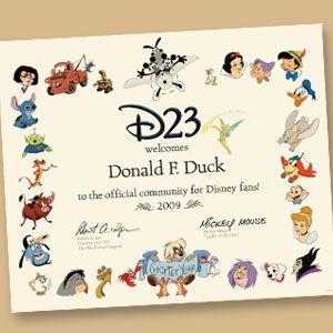 D23 Certificat