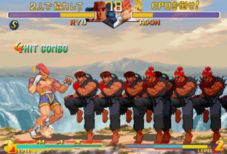 حصريا Street Fighter Alpha وكدالك King Fighters Death
