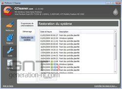 CCleaner 2.19.900 restauration