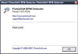Pistonsoft BPM Detector screen1