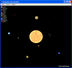 PlanetAnim screen