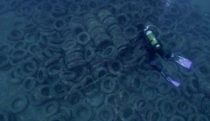 pneus usages recif artificiel