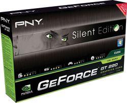PNY GeForce GT220 Silent Edition boîte