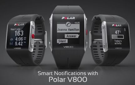 Polar V800 notifications