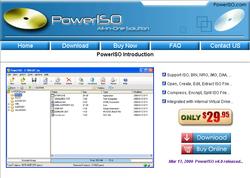 PowerIso screen 1