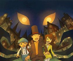 Professeur Layton 4 - artwork