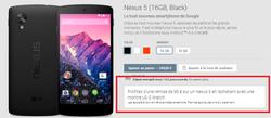 Promo Nexus 5