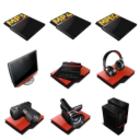 ProRed : un pack de 58 icônes rouges et noires