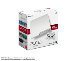 PS3 Slim 160 Go blanc - 1