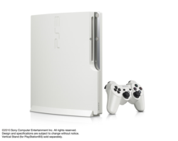 PS3 Slim 160 Go blanc - 3
