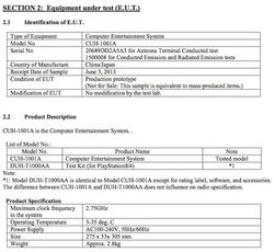 PS4 - fiche technique FCC