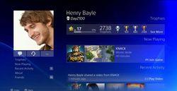PS4 - menu