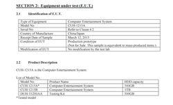 PS4 - modeles 2015 - FCC