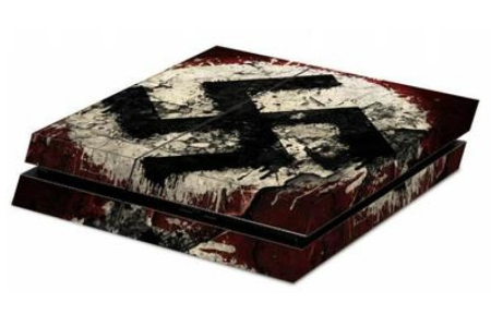 cdiscout sticker autocollant skin playstation croix gammee nazi actualite