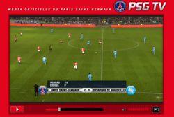PSG navigateur screen