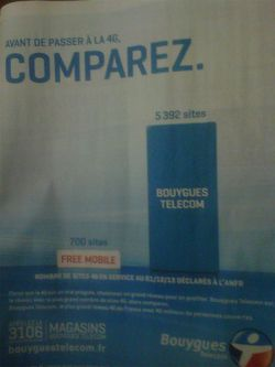 Publicité comparative 4G