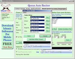 Quran Auto Reciter screen