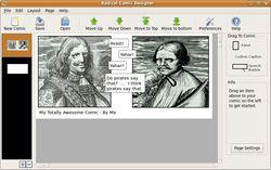 Radical Comic Designer screen
