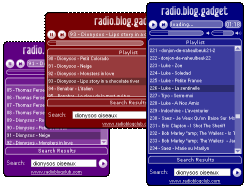 Radio Blog Gadget screen2
