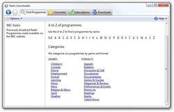 Radio Downloader screen1