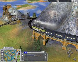 Railroad Tycoon screen 1