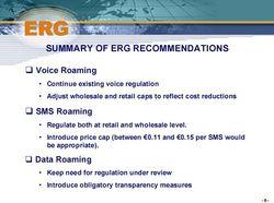 Recommandations ERG