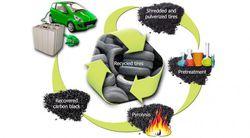 recyclage pneu noir de carbone