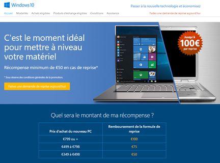 Reprise Microsoft windows 10