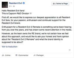 Resident Evil 2 Remake Capcom