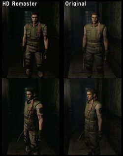 Resident Evil Rebirth HD - comparatif 1